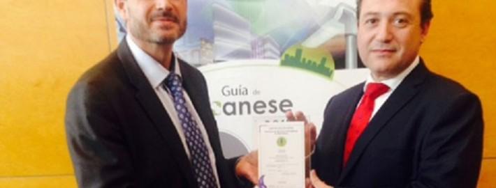 Acto de entrega de la certificación como empresa ESE plus al Director General de ALISEA ESCO